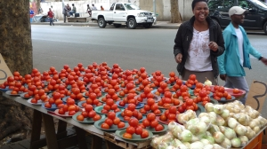 One of the most smiling  hawker I ever met in joburg