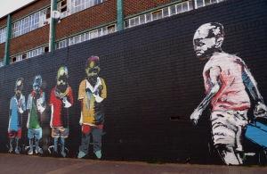 Wall in Johannesburg